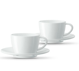 Set 2 tasses Cappuccino avec soucoupes - Jura