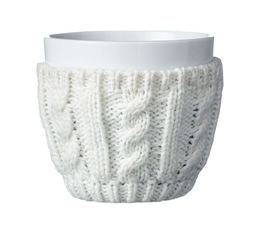 VIVA Scandinavia COSY porcelain tea cup with knitted woolen wrap - 250ml