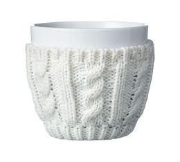 Tasse COSY en porcelaine avec manchon en laine VIVA Scandinavia - 25 cl