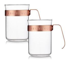 Tasses poignée cuivre Barista & Co - 22cl x2