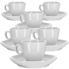 6 Tasses et sous-tasses café expresso 8cl - modèle Alba