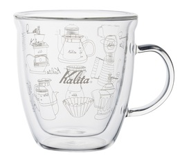 Kalita double-wall glass for hot drinks - 340ml / L size