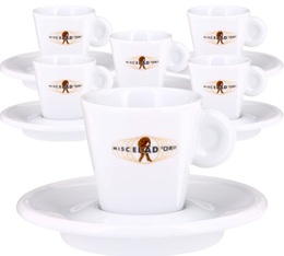 Miscela d'Oro Set of 6 Cups and Saucers Espresso Modern Line - 5cl