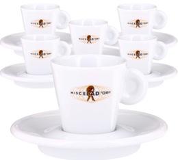 6 tasses et sous-tasses Espresso Modern Line - Miscela d'Oro