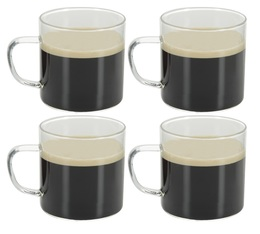 Lot de 4 tasses en verre 25cl - OGO Living