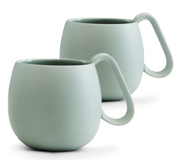 Lot de 2 tasses en porcelaine Stone Mint Nina 28cl - Viva Scandinavia