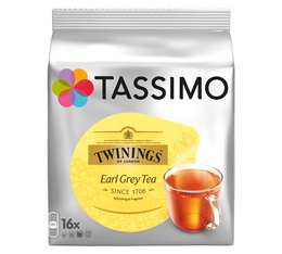 Dosette Tassimo Twinings Thé Earl Grey - 16 T-Discs