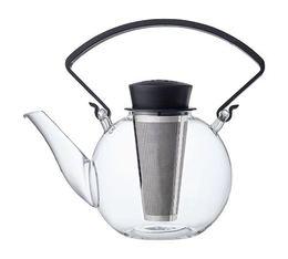 Théière Tea 4 U en verre 1L avec poignée noire QDO