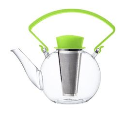 1L glass Tea 4 U teapot with green handle by QDO