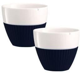 Lot de 2 tasses en porcelaine et manchon silicone noir VIVA Scandinavia - 25 cl