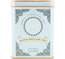 Harney & Sons 'Winter White Earl Grey' flavoured white tea - 20 sachets