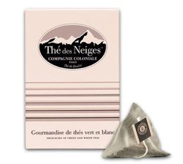 'Thé des neiges' flavoured white tea - 25 pyramid bags - Compagnie Coloniale