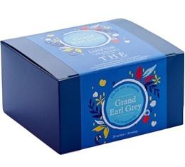 Boîte 20 sachets - Thé noir Grand Earl Grey - Comptoir Français du thé