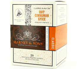 Thé Noir sachet Hot Cinnamon Spice 'cannelle' x 20 - Harney and Sons
