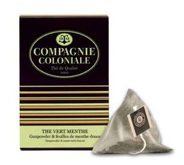 Mint green tea - 25 pyramid bags - Compagnie Coloniale