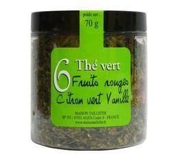 Thé vert n°6 Maison Taillefer fruit rouge citron vert vanille 70g
