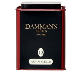Dammann Frères - N°10 Assam GFOP black tea - 100g tin of loose leaf tea