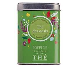Thé vert en vrac boîte métal 'Thé des Oasis' - Comptoir Français du Thé - 90g