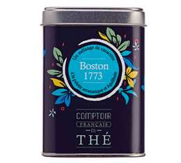 Loose black tea in a 'Boston 1773' metal box - Comptoir Français du Thé - 100g