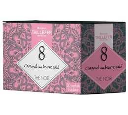 Thé noir caramel en sachet- Maison Taillefer - boîte de 20 sachets