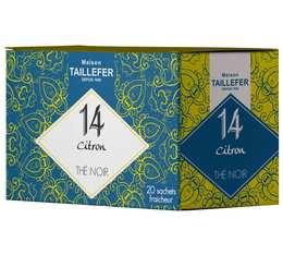 Thé noir citron en sachet- Maison Taillefer - boîte de 20 sachets
