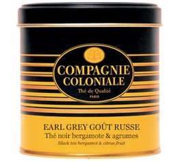 Luxury Earl Grey Goût Russe Black Tea - 100g loose leaf tea in tin - Compagnie Coloniale
