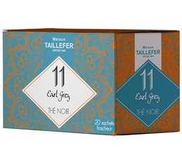 Thé noir earl grey en sachet- Maison Taillefer - boîte de 20 sachets