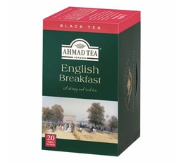 Thé noir English Breakfast - 20 sachets fraicheurs - Ahmad tea