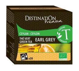 Thé vert bio Earl Grey Destination x20 sachets