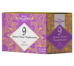 Thé vert et noir jasmin, Thé noir fraise, pamplemousse en sachet- Maison Taillefer - boîte de 20 sachets