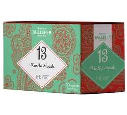 Thé vert menthe en sachet- Maison Taillefer - boîte de 20 sachets