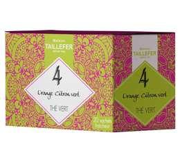 Thé vert orange citron vert en sachet- Maison Taillefer - boîte de 20 sachets