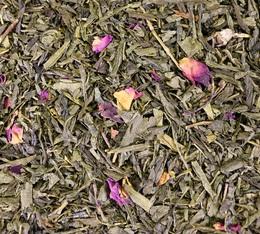 Thé vert en vrac Rose Litchi - 100gr - Comptoir Français du Thé