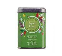Thé vert en vrac boîte métal 'Japan Lime' - Comptoir Français du Thé - 80g