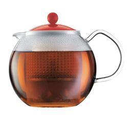 Théière Bodum Assam Color rouge - 1 litre