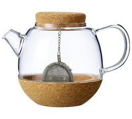 Théière Cortica VIVA Scandinavia en verre et liège + boule à thé - 50 cl