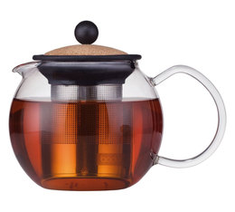 0.5L Assam tea press with stainless steel infuser and cork lid - Bodum