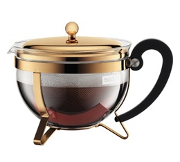BODUM 1.3L Chambord teapot with stainless steel infuser and gilded finish + Free gift