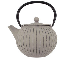 0.80L beige Physalis cast iron teapot + Free gift