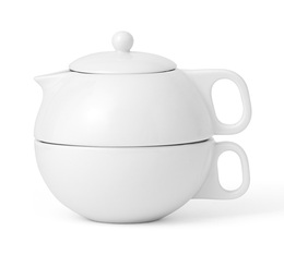 Viva Scandinavia 'Jaimi' porcelain teapot for one - 30cl + free tea!