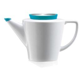 Théière en porcelaine VIVA Scandinavia avec couvercle Turquoise en silicone - 1 L