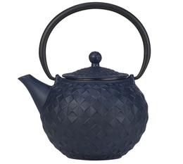 Cosy & Trendy 'Sakai' blue cast-iron teapot with infuser + Free Tea