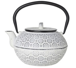 Cosy & Trendy 'Takayama' white cast-iron teapot with infuser + Free Tea