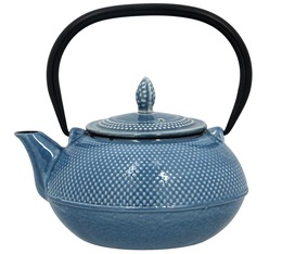 OGO Living Blue cast iron teapot with double enamel - 0.9L + Free gift