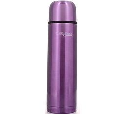 Bouteille THERMOcafé isotherme inox Rose Lilas - Thermos - 1L