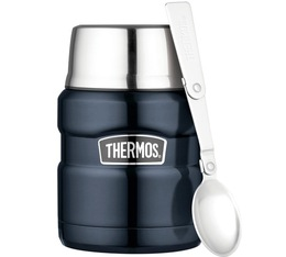 Thermos King Food Flask with Spoon Dark Blue - 47cl