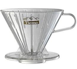 Dripper Tiamo V02 conique transparent 4 tasses