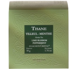 Dammann Frères Lime blossom peppermint herbal tea - 25 Cristal® sachets