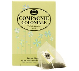 Douce Ligne green tea - 25 pyramid bags - Compagnie Coloniale