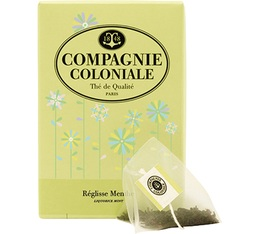 Liquorice Mint Herbal Tea - 25 pyramid bags - Compagnie Coloniale